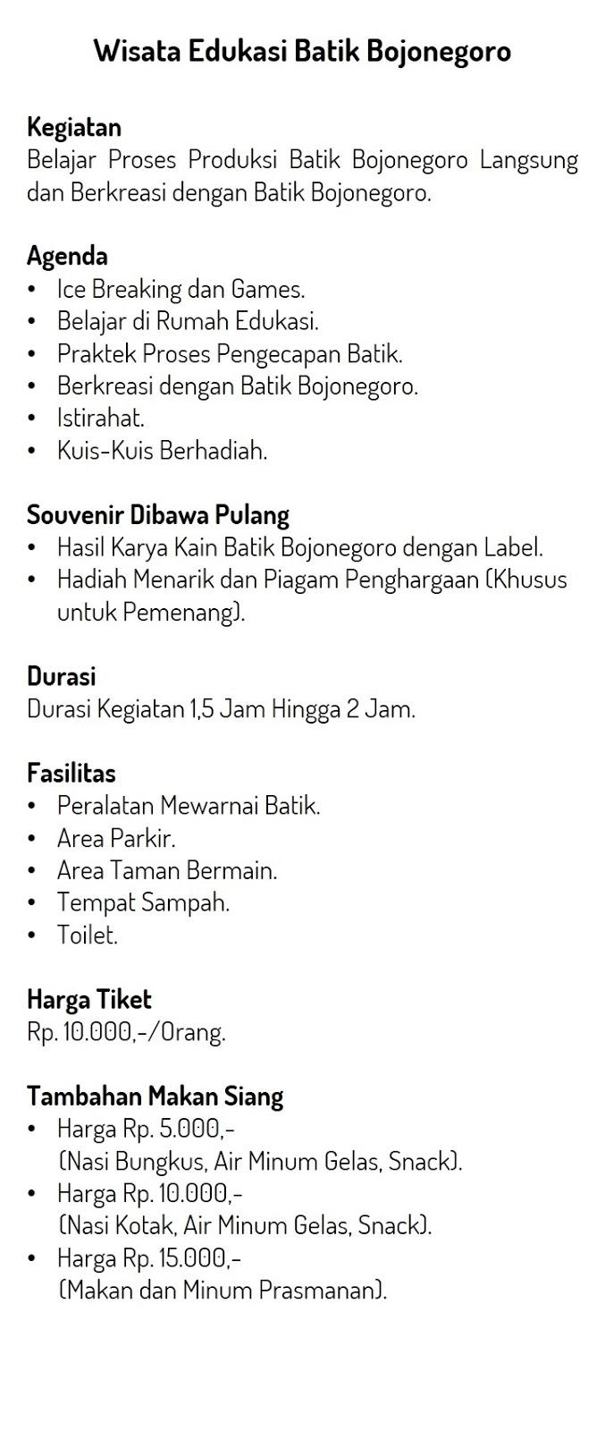 Wisata Edukasi Batik Bojonegoro Wisata Desa Ringintunggal