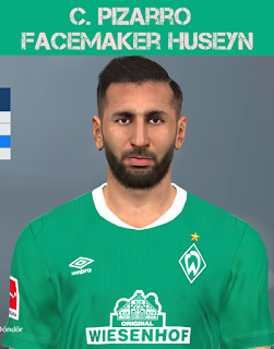 PES 2017 Faces Claudio Pizzaro by Huseyn