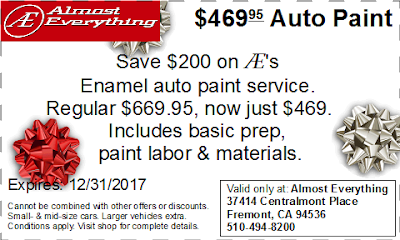Coupon $469.95 Auto Paint Sale December 2017
