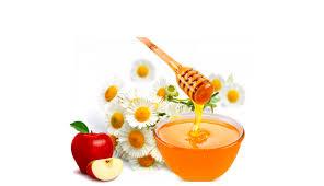 mật ong và táo