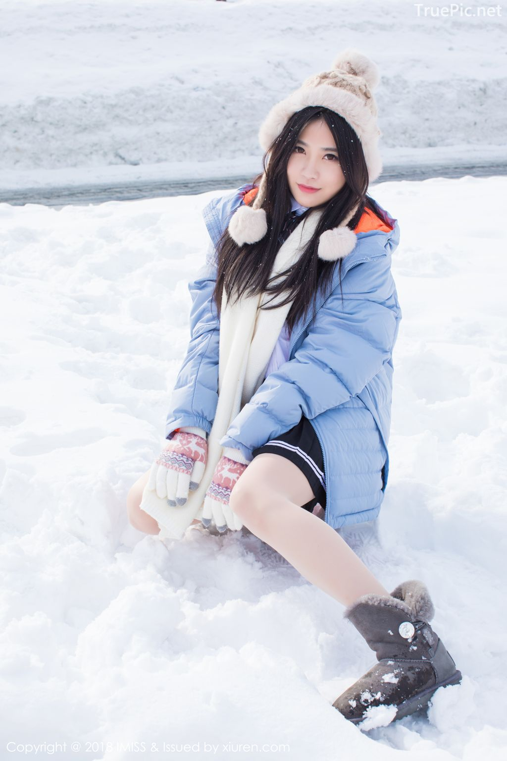 Image-IMISS-Vol.262-Sabrina model–Xu-Nuo-许诺-Sparkling-White-Snow-TruePic.net- Picture-1