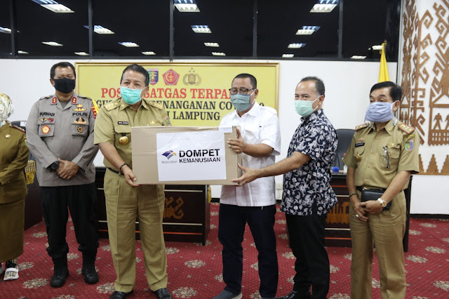Gubernur Lampung Terima Bantuan APD Dari Media Group