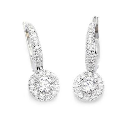 Pendientes de diamantes de novia de RABAT - Blog Mi Boda