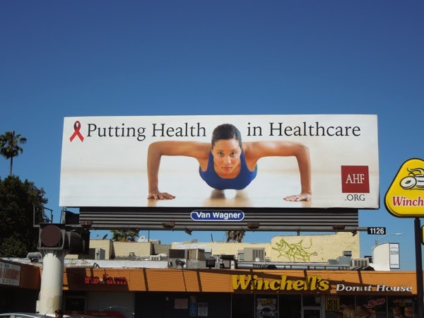 Putting health in healthcare push up AHF billboard
