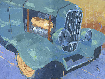 hot rod painting art knife texture 1932 ford