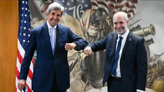 """Larreta con Kerry, pidió dinero por la """"transición verde"""""""