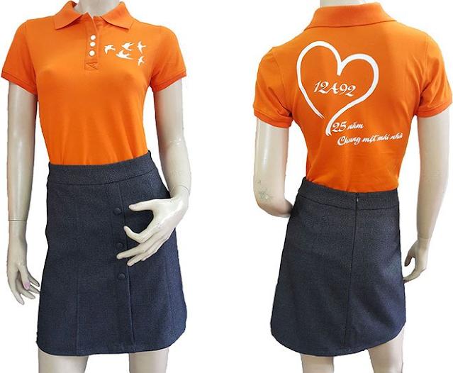 Size áo thun đồng phục
