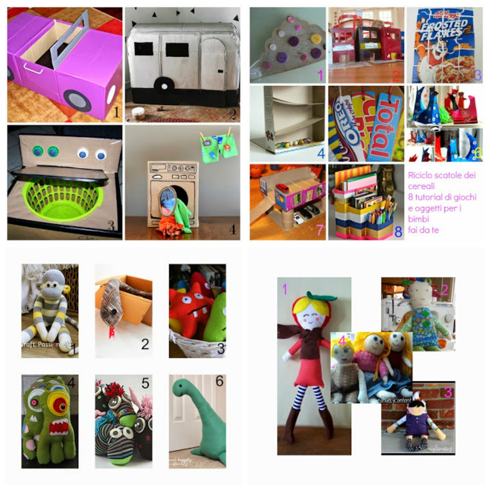 40 idee per creare giochi e bambole per bambini con for Idee da creare