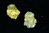 pépites d'or trouvées en Belgique.
