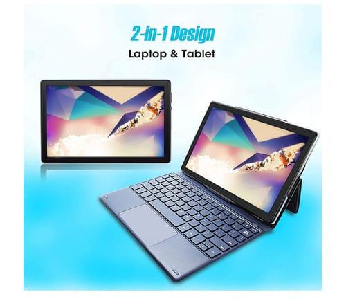 CWOWDEFU 4GB RAM 64GB Android 10 Tablet with Keyboard