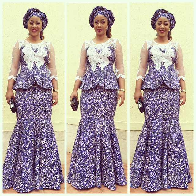 a44f7708f17a9d Check Out This Lovely Aso Ebi Skirt and Blouse Style - DeZango