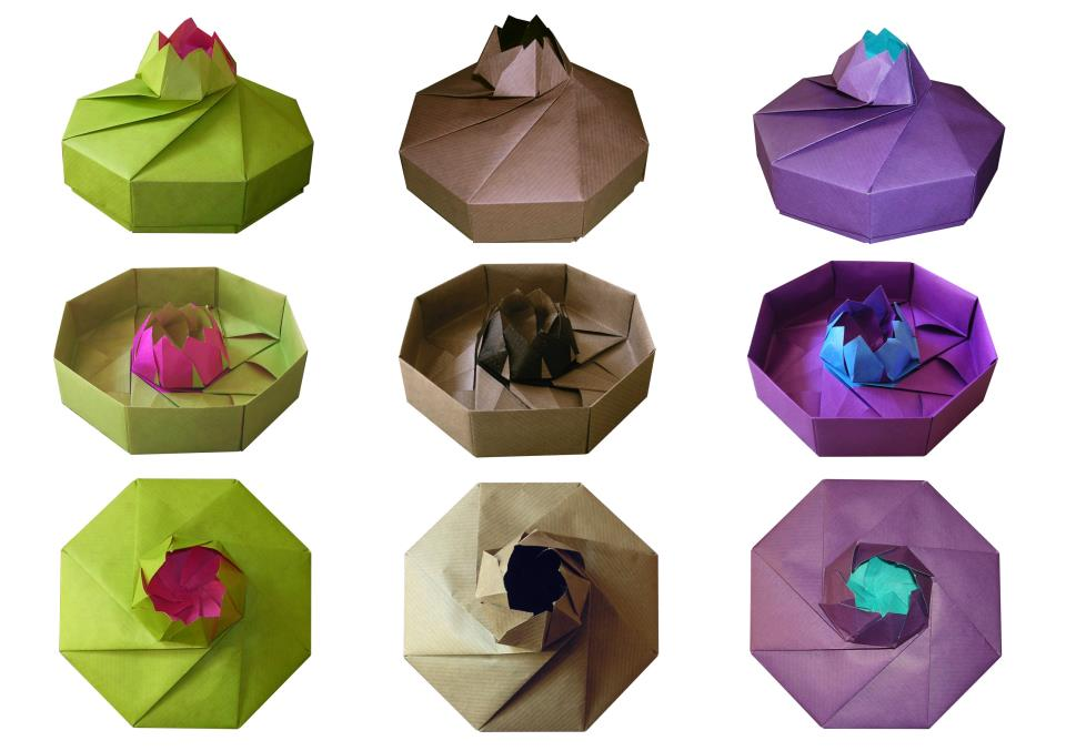 tomoko fuse octagonal box waterlily origami. Black Bedroom Furniture Sets. Home Design Ideas