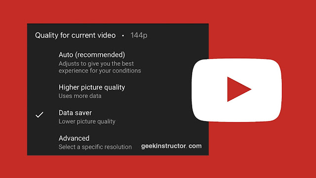 Remove new YouTube video quality options