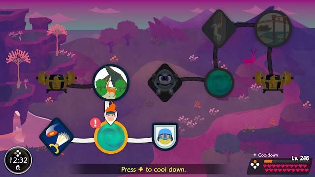 Ring Fit Adventure World 32 Extra Fitness Lv. 207 Flex Dojo overworld map warp zone