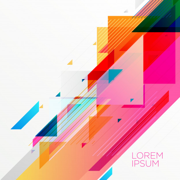 Creative colorful abstract geometric background design Free Vector