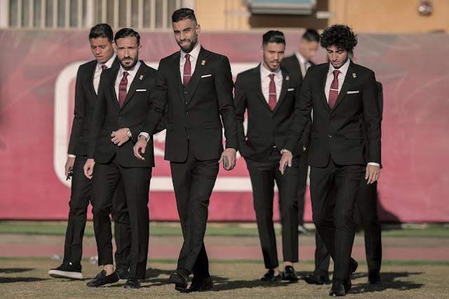 لاعبى الأهلى فى جلسة تصوير النادى الأهلى لكأس العالم للأندية 2021