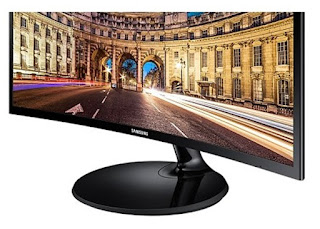 Monitor Led Komputer SAMSUNG Curved LED 24 Inch LC24F390FHE