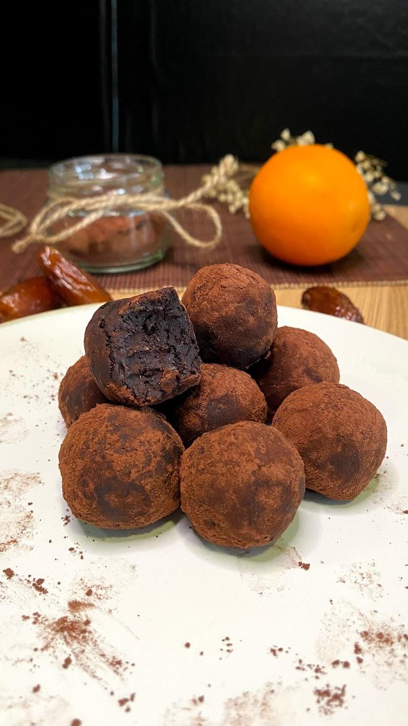 Trufas Saudáveis de Chocolate e Laranja (Tiktok)