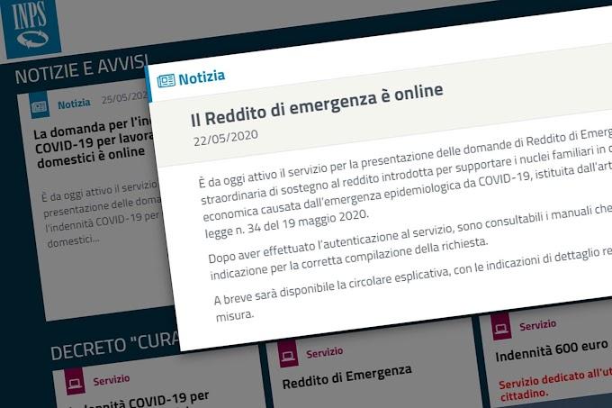 Ultimi giorni per richiedere il Reddito di emergenza