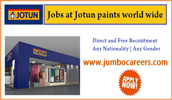 Jotus paints jobs for Indians, Direct free recruitment jobs,