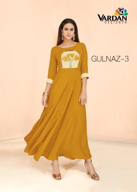 Vardan designer gulnaz vol 3 Party wear kurtis