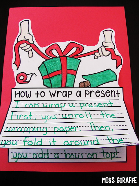 How to wrap a present craft and other great December writing prompts and activities