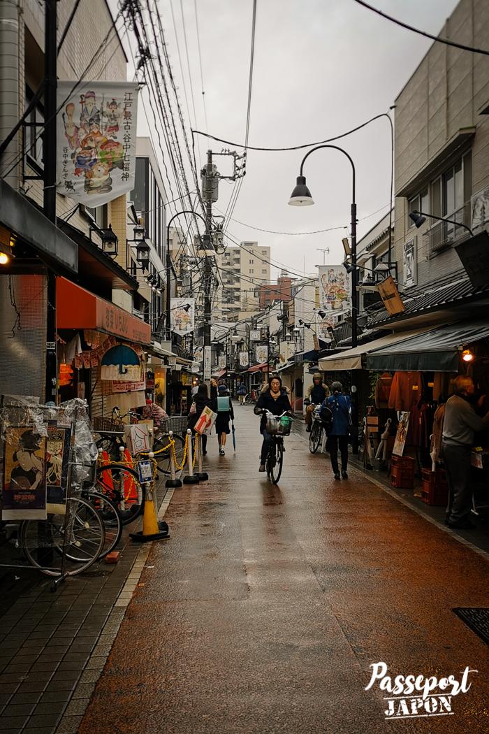 Rue commerçante, Yanaka, Tokyo