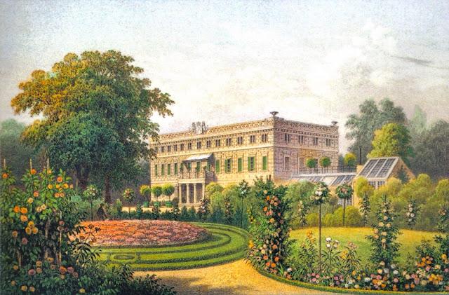 Jak dawniej wyglądał pałac w Zatoniu? Obraz Alexandra Dunckera.