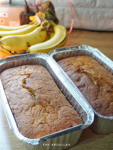 resepi kek butter pisang, banana butter cake, butter cake moist, kek butter gebu, kek butter sedap, kek pisang lembut