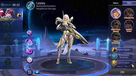 Download Script Skin Lesley Epic Mobile Legends