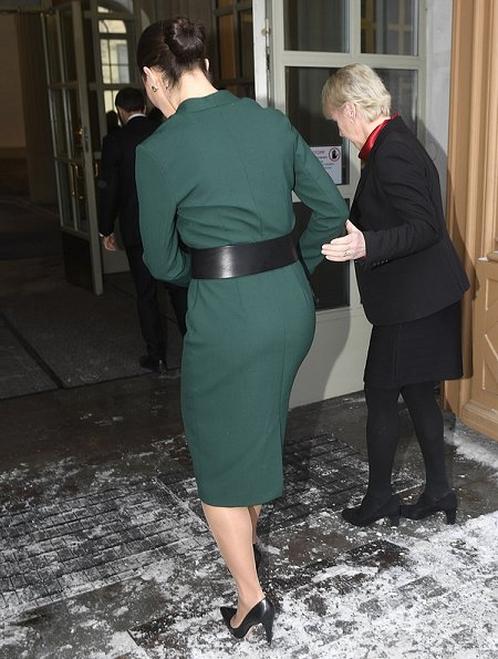 Crown Princess Victoria wore her Rodebjer Alexe dress. Crown Princess Victoria wore a green dress by Rodebjer