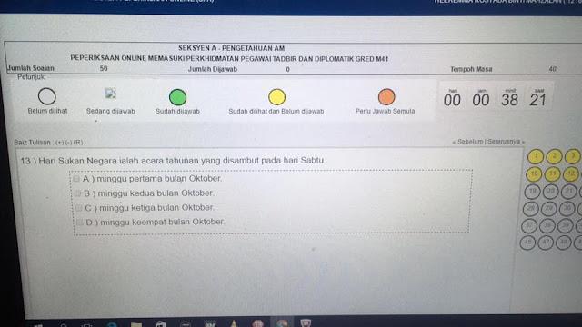 Contoh Soalan Peperiksaan Penolong Pegawai Tadbir N29 SPA8i