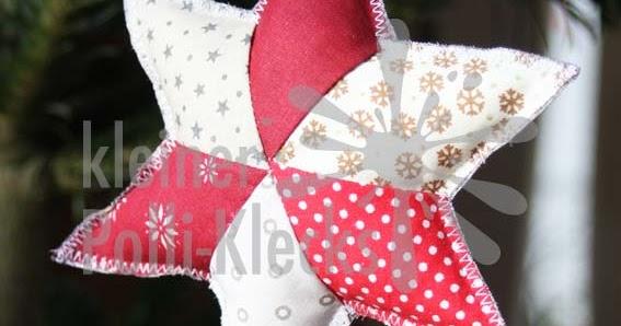 kleiner Polli-Klecks: Patchwork-Sterne nähen für den Tannenbaum