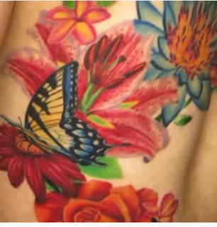 cardi b butterfly tattoo