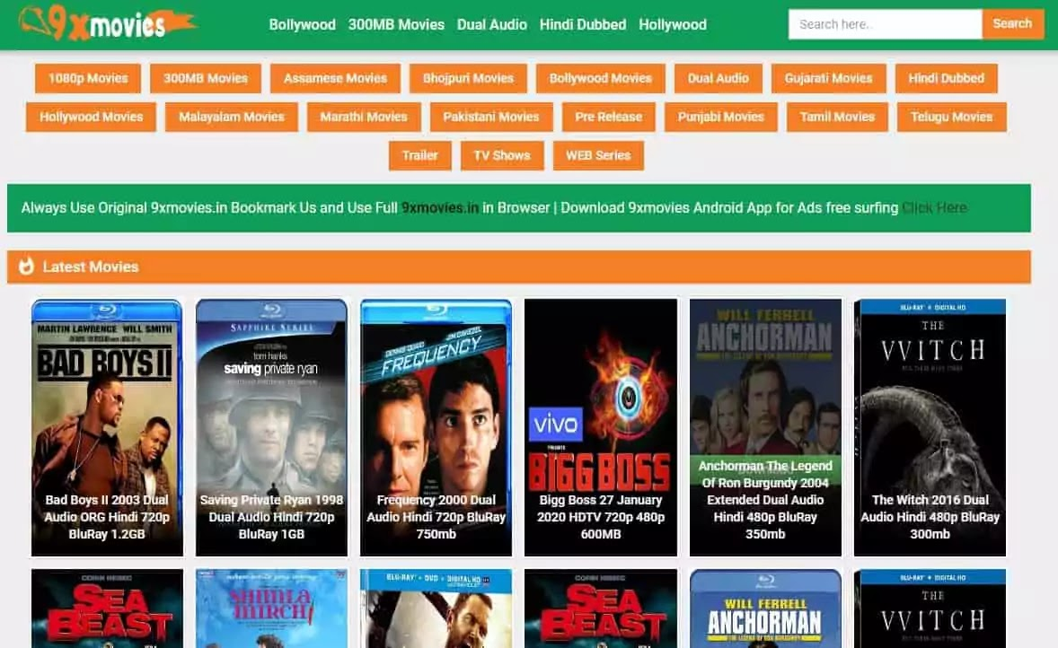 9xfilms Download Bollywood HD Movies in 2020