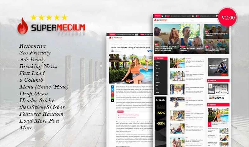 [Free Download] SuperMedium Premium Looking Blogger Template