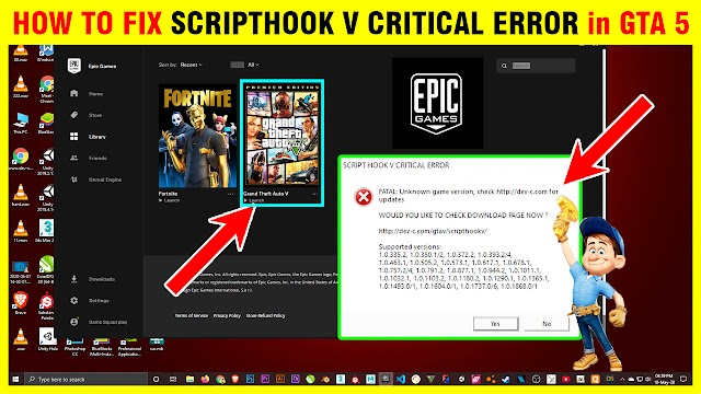 HOW TO FIX SCRIPTHOOK V CRITICAL ERROR AND After Play GTA 5 Online | 2020