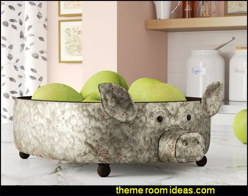 Galvanized Pig Tray country farmhouse kitchen decor
