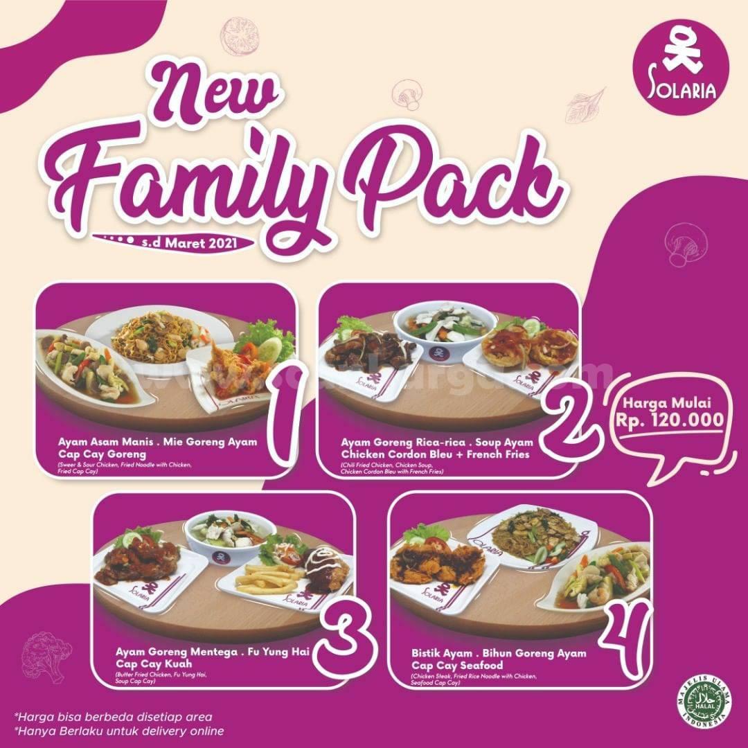 Promo SOLARIA Terbaru - Paket FAMILY PACK Harga Mulai Dari Rp 120.000