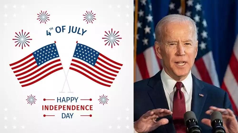US President Joe Biden, July 4th Independence Day United States, US
