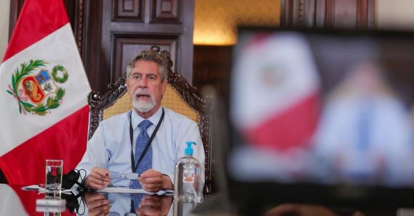 Presidente Sagasti confirma primer embarque de vacunas que llegarán el domingo hacia el Perú