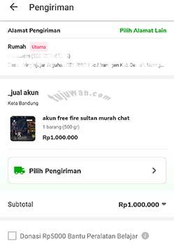 Cara beli akun sultan FF Free Fire online