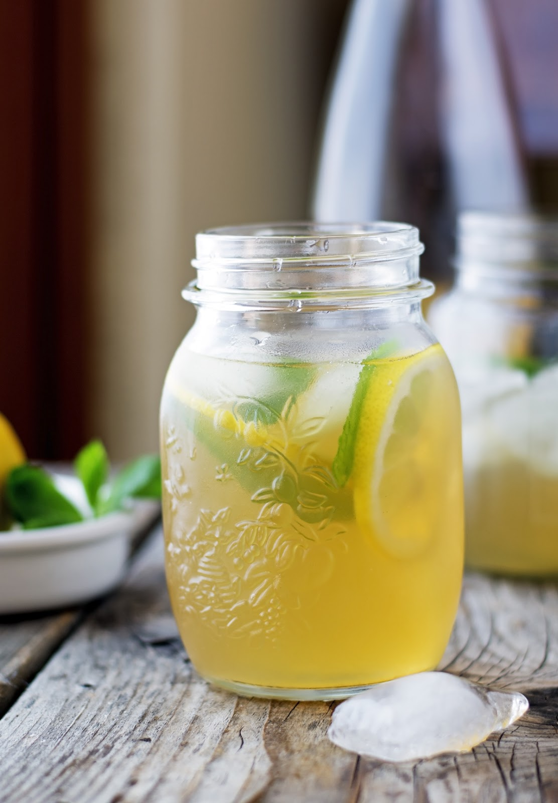Mint and Ginger Iced Green Tea