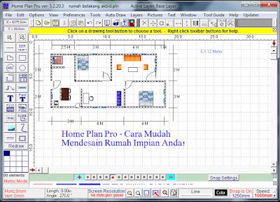 Home Plan Pro cara mudah desain rumah