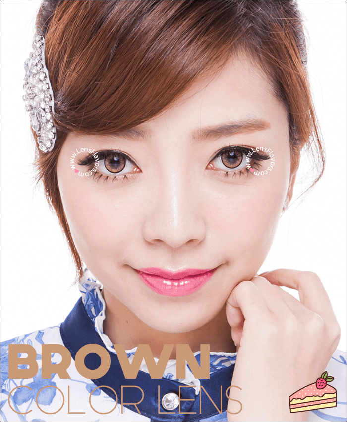 eos new adult brown colored contacts