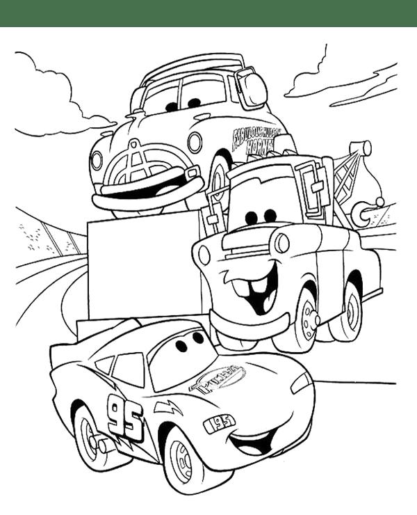 Tranh cho bé tô màu vương quốc xe hơi 08