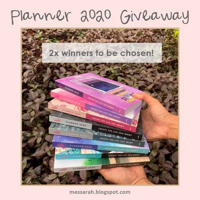 Planner 2020 Giveaway by Messarah