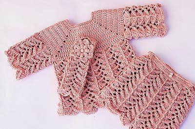 1 - Crochet IMAGEN Pantalón a juego con chambrita a crochet muy fácil y rápida. MAJOVEL CROCHET
