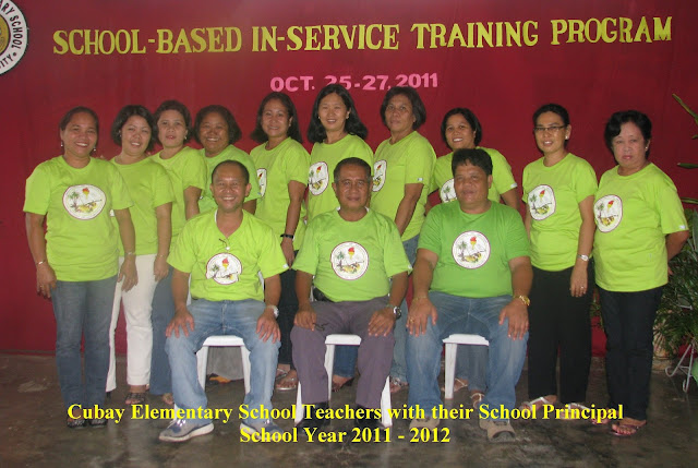 Teaching force of Cubay Elementary School with their school principal