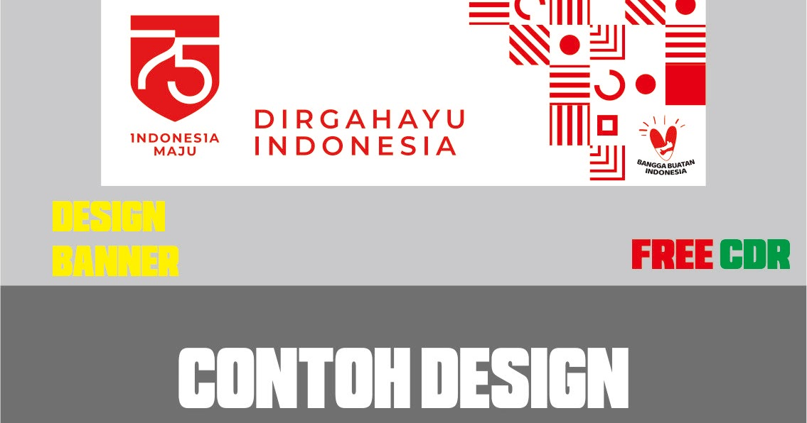 Download Contoh Desain Banner Resmi HUT RI Ke 75 TH Format ...